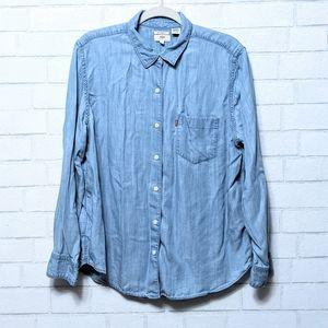 Levi's Chambray Denim Boyfriend Fit Shirt XL